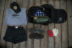 GoRuck gear packed up and ready to go