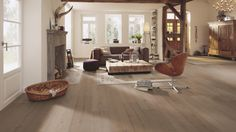 Meister Lindura HD300 engineered wood floor in Light Clay Grey Oak (8416)