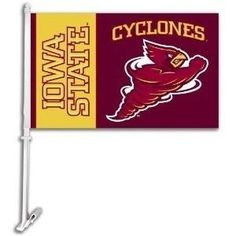 Iowa State Cyclones NCAA Car Flag