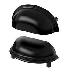 IKEA - FÅGLEBODA, Handtag, svart, , De här handtagens skålade form gör att du…