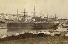 The GREAT EASTERN laid up at Milford, 1876, collection Todd Neitring