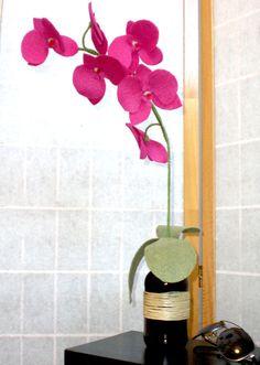 Stem Orchid rosa feltro flor da orquídea floresce casamento por BBrustic