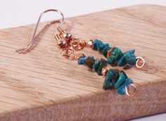 Copper turquoise earrings authentic turquoise by katerinasjewelry, $7.95