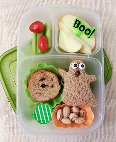 ghost with the most lunch  | packed in an @EasyLunchboxes container