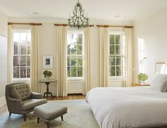 West side townhouse, NYC. BWArchitects (formerly Basil Walter Architects). Plainest curtains... they look beautiful.