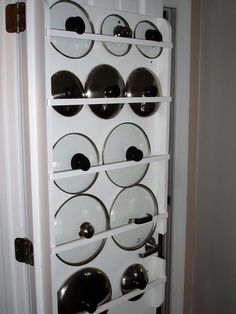 Great storage for all those lids that end up at the back of the cupboards!
