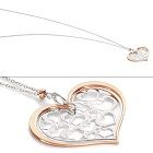 Nomination Romantica Sterling Silver & 18k Rose Gold Plate Heart Necklace 141521-011 $88