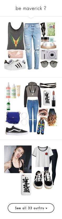 """""""be maverick 🦇"""" by tanaratc ❤ liked on Polyvore featuring Aesop, H&M, adidas, Rebecca Minkoff, Clinique, Forever 21, Arbonne, Nikon, Christian Dior and Topshop"""