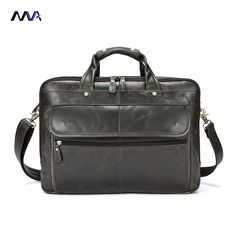 MVA Genuine Leather Men Bags Business Laptop male bags Men s Briefcase  casual Tote Shoulder Handbag Men s travel bag-in Briefcases from Luggage    Bags on ... 384a3fa67449a