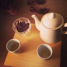 Dark chocolate and green tea. I'm done
