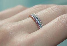 The PRINCESS Combination of Pink Sapphire Blue Topaz and