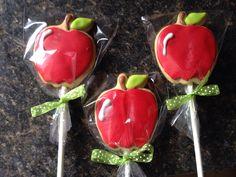 Apple cookie pops