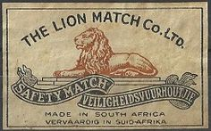 Rarity, The Collector, South Africa, Lion, Match Boxes, Cinderella, Label, Vintage, Leo