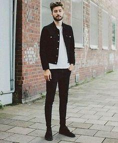 Levis Denim Trucker Jacket Black Rock'n'Roll Skinny Fit Urban Outfitters Size S