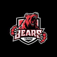 Modern Professional Grizzly Bear Logo For A Sport Team Corporate Logo Design, Camera Logo, Butterfly Logo, Bear Logo, Abstract Logo, Graffiti, Tiger Cubs, Tiger Tiger, Bengal Tiger