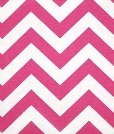 Zig Zag Candy Pink / White   Online Discount Drapery Fabrics and Upholstery Fabric Superstore!  For A's curtains.