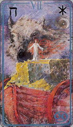 Chariot Haindl Tarot- Hagall ( Hailstone)