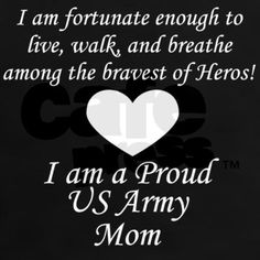 Army Mom Fortunate Tee on CafePress.com