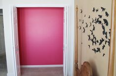 Add a bright pop to your closet with Benjamin Moore peony