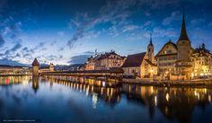 Download wallpaper Lucerne, Switzerland, Chapel Bridge free desktop wallpaper in the resolution 2048x1196 — picture №590026