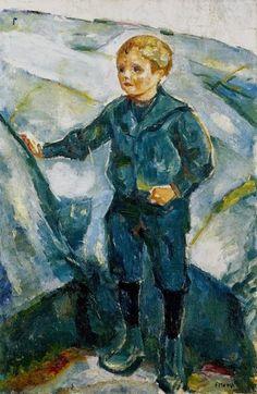 Edvard Munch - Boy in Rocky Landscape, 1912-15