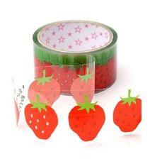 Cute Strawberry Love Fruit Transparent Plastic Kawaii Decor... | Shop | Kaboodle