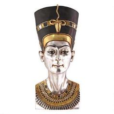 Grand-Scale Egyptian Queen Nefertiti Wall Sculpture $179.00