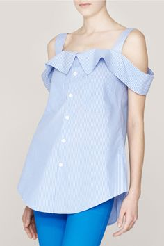 DIY- men's shirt cut into blouse.... cute tucked into a skirt
