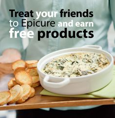 Have your own Epicure Catalogue Party with your friends and family. Only min $200 in party orders to recieve $20 in free products, plus more hostess rewards. We ship to any address within Canada. Shop on-lime with me: Tanya Demasi at www.epicureselections.com   Follow me on Facebook www.facebook.Com/tanyasepicureselections