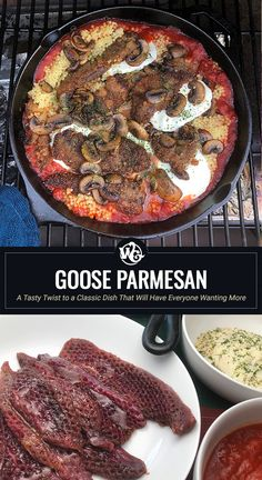 A great way to enjoy your goose breast is to turn them into a delicious and hearty Goose Parmesan. Now my version of this entrée is similar to what you might Wild Goose Breast Recipe, Beef Tenderloin Roast, Pork Roast, Goose Recipes, Roast Chicken And Gravy, B Recipe, Wild Game Recipes, Food Now, Roasted Chicken