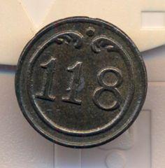 Cincin19,Belle Boutton Infanterie de Ligne Nº118.Petit Modele,16mm | eBay