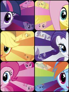 My Little Pony. Twilight Sparkle, Fluttershy, Applejack, Rarity, Pinkie Pie, and Rainbow Dash. Wallpaper. Mane 6. Uploaded by SUNSET SHIMMER.