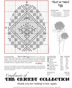 Tisket-A-Tasket egg pattern; new freebie from the Cricket Collection
