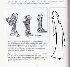 """Some of Ewing's pictures of twin brooches, which support a suspiciously cloak-like """"backcloth"""" or (charitably) a long string of jewelry. Viking Garb, Viking Reenactment, Viking Dress, Viking Warrior, Viking Woman, Historical Women, Historical Photos, Strange History, History Facts"""