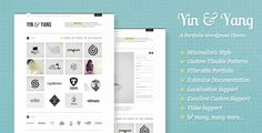 Yin & Yang: Clear and Slick WP Portfolio Theme - Portfolio Creative