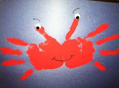 Crab Craft Idea for Kindergarten – Preschool and Kindergarten - Easy Crafts for All Kids Crafts, Crab Crafts, Daycare Crafts, Toddler Crafts, Dinosaur Crafts, Santa Crafts, Under The Sea Crafts, Under The Sea Theme, Under The Sea Games