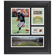 """Stevie Johnson Los Angeles Chargers Fanatics Authentic Framed 15"""" x 17"""" Collage with Game-Used Football - $79.99"""