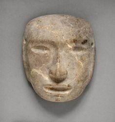 Mask. Guerrero, Mexico. Mezcala, 500 B.C.- A.D. 1000