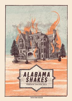 Jungle Indie Rock Music Tumblr • Alabama Shakes gig posters by Error Design