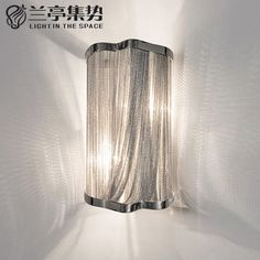 95.00$  Buy here - http://alib9k.worldwells.pw/go.php?t=32596162607 - Stream Classic Aluminum Chain Wall Lamp Luxury Chain Light Bedroom Light Dining Room Light Hotel Light  H36CM Free Shipping