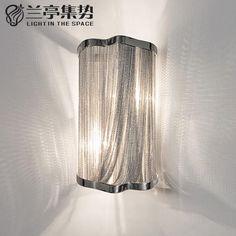95.00$  Buy here - http://alib9k.worldwells.pw/go.php?t=32596162607 - Stream Classic Aluminum Chain Wall Lamp Luxury Chain Light Bedroom Light Dining Room Light Hotel Light  H36CM Free Shipping
