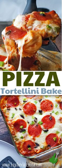 Pizza Tortellini Bake