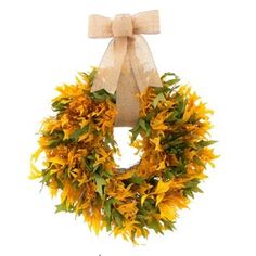Autumn Fresh Oak Leaf Fall Wreath