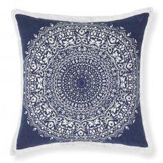 Behold the exquisite, boho design printed on the cotton Bandana Cushion from Rapee. Velvet Cushions, Floor Cushions, Cool Bandanas, Bandana Design, Cushions Online, Boho Designs, Color Patterns, Indigo, Design Inspiration
