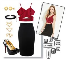 """""""Untitled #73"""" by svpy ❤ liked on Polyvore featuring Forever 21, Alexander McQueen, Christian Louboutin, ASOS Curve, Sevil Designs, women's clothing, women, female, woman and misses"""