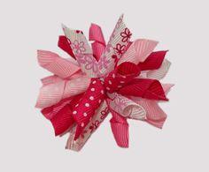 #KRK710 - Korker Dog Bow - I Pink You're Cute! :)
