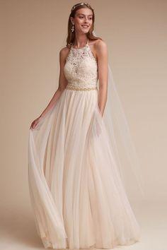 GORGEOUS Wedding Dress! BHLDN Josie Gown Size 6 - Worn Once - Perfect