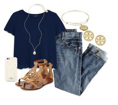 """""""loving this 70 degree capri weather"""" by kierstinmoyers ❤ liked on Polyvore featuring J.Crew, MANGO, Tory Burch, Kendra Scott, Kate Spade and Alex and Ani"""