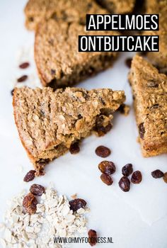 Cake for breakfast sounds like a perfect idea right? We made a breakfast cake with . - Cake for breakfast sounds like a perfect idea right? We made a breakfast cake with apple sauce as a - Yummy Healthy Snacks, Healthy Baking, Breakfast Cookies, Sweet Breakfast, Sweet Desserts, Easy Desserts, Pudding Oats, Eat This, Pureed Food Recipes