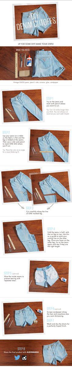 Make your own #DIY denim cutoffs!